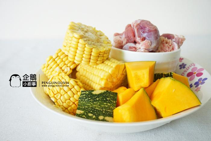 南瓜黍米猪骨汤食谱 Pumpkin Corn Soup Recipe