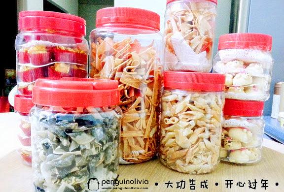 CNY年餅: Conflakes餅,紫菜餅,春卷餅 ,蟹柳絲