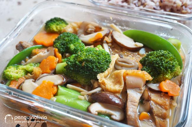 便当系列/烧肉蔬菜杂烩食谱