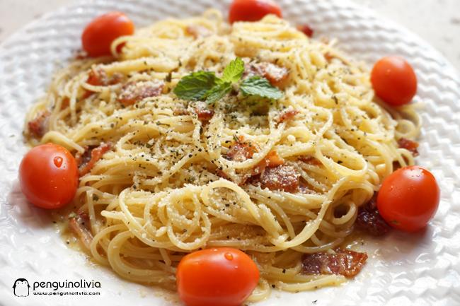 Carbonara意大利面食譜 Spaghetti Carbonara Recipe