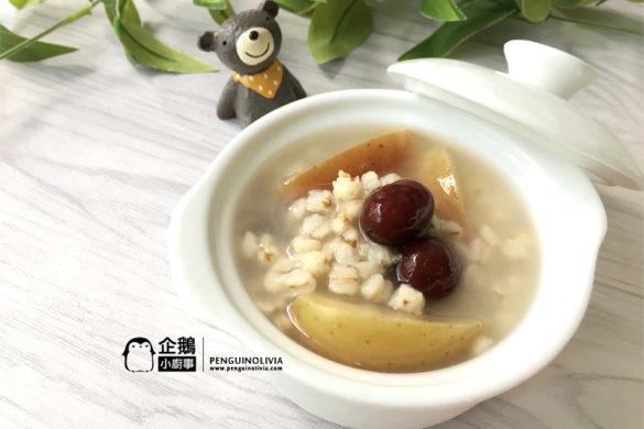 简易糖水/薏米苹果红枣糖水食谱